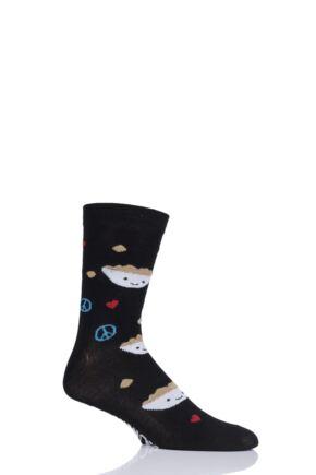 Mens and Ladies SOCKSHOP 1 Pair Lazy Panda Bamboo Fun & Novelty Socks