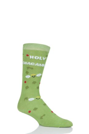 Mens and Ladies SockShop 1 Pair Lazy Panda Bamboo Holy Guacamole Gift Boxed Socks