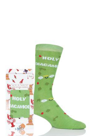 Mens and Ladies SOCKSHOP 1 Pair Lazy Panda Bamboo Holy Guacamole Gift Boxed Socks