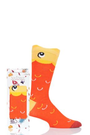 Mens and Ladies SOCKSHOP 1 Pair Lazy Panda Bamboo Goldfish Gift Boxed Socks