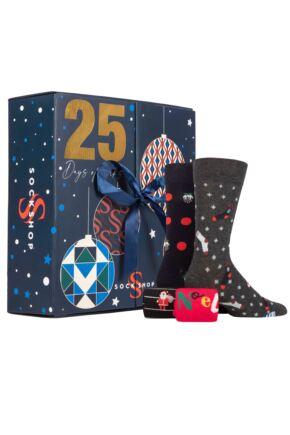 Mens and Ladies SOCKSHOP 25 Pair Christmas Advent Calendar - Pre-order
