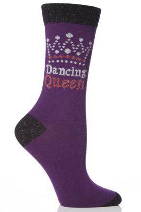 Ladies 1 Pair SockShop Dare To Wear Dancing Queen Socks