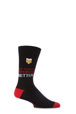 Mens 1 Pair SockShop Birthday Dare to Wear Old Enough To Know Better 75% OFF