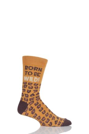 Mens 1 Pair SockShop Dare To Wear Born To Be Wild Socks Multi
