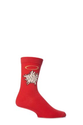 Mens 1 Pair SockShop Dare To Wear Holey Socks 75% OFF Red