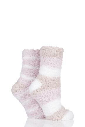 Ladies 2 Pair SockShop Fluffy and Cosy Leisure Socks