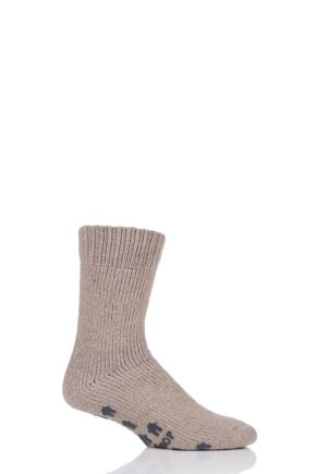 SockShop 1 Pair Natural Home Slipper Socks Tweed 7-11 Mens