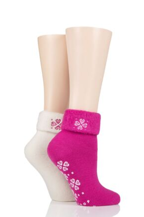 Ladies 2 Pair SOCKSHOP Thermal Home and Bed Socks