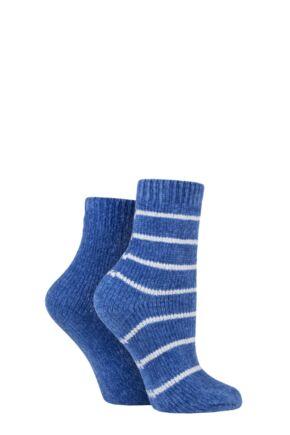 Ladies 2 Pair SOCKSHOP Dreamy Soft and Cosy Leisure Socks