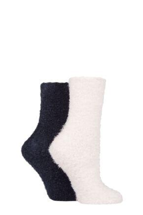 Ladies 2 Pair SOCKSHOP Feather Feel Leisure Socks