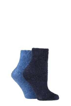 Ladies 2 Pair SOCKSHOP Feather Feel Leisure Socks