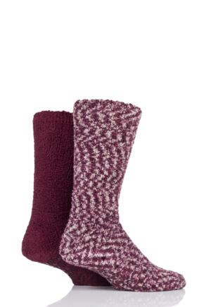 Mens 2 Pair SOCKSHOP Cosy Slipper Socks