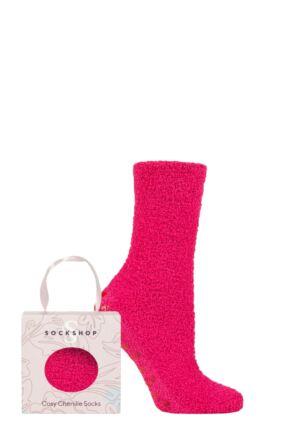 Ladies 1 Pair Sockshop Chenille & Cosy Gift Boxed Socks