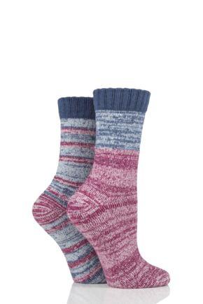 Ladies 2 Pair SOCKSHOP Boot Socks