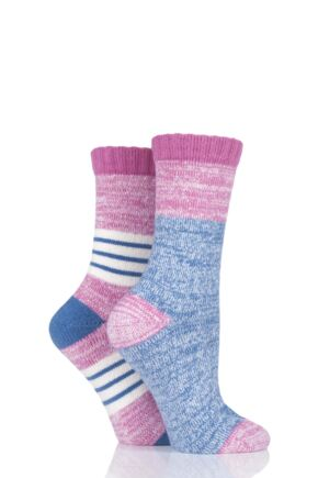 Ladies 2 Pair SOCKSHOP Boot Socks