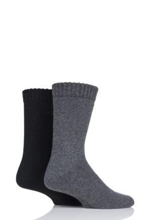 Mens 2 Pair SockShop Wool Mix Boot Socks
