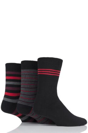 Mens 3 Pair SOCKSHOP Cushioned Foot Boot Socks