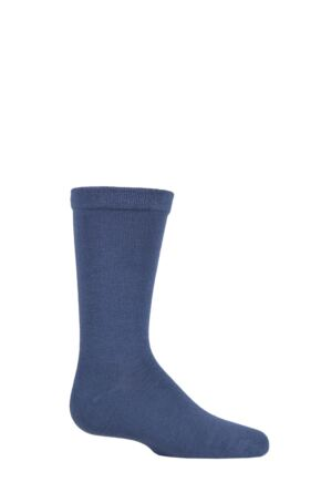 Boys and Girls 1 Pair SOCKSHOP Plain Bamboo Socks with Comfort Cuff and Smooth Toe Seams Denim 2  9-12
