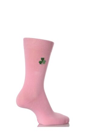 Ladies 1 Pair SockShop Individual Nations Pink Embroidered Socks - 3 To Choose From 25% OFF Shamrock