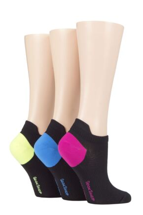 Ladies 3 Pair SOCKSHOP Poly Sports No Show Socks