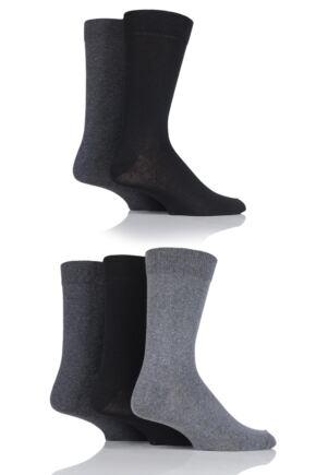 Mens 5 Pair SOCKSHOP Cotton Socks Greys 7-11