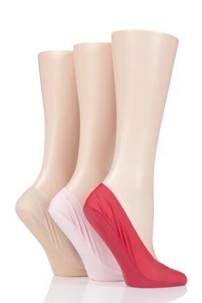 Ladies 3 Pair SOCKSHOP Smooth Nylon Shoe Liners