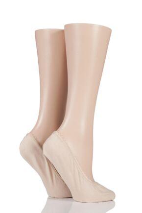 Ladies 2 Pair SockShop Shoe Liners with Pad