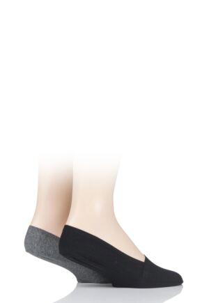 Mens 2 Pair SOCKSHOP Jersey Shoe Liners