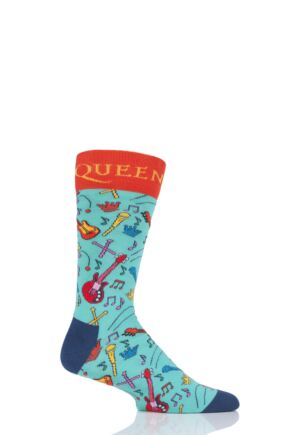 Happy Socks 1 Pair Queen 'The Works' Combed Cotton Socks