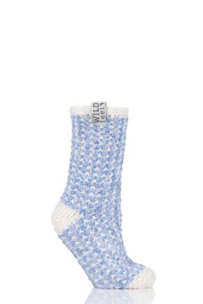 Ladies 1 Pair SOCKSHOP Wild Feet Fleece Lined Slipper Socks