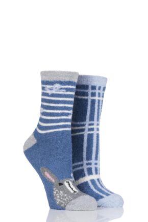 Ladies 2 Pair SockShop Snugsoles Bed Socks