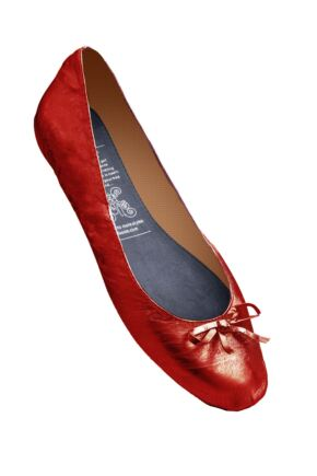 Ladies 1 Pair Rollasole Red Rollable After Party Shoes to Keep in Your Handbag