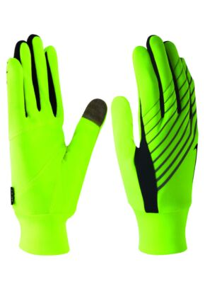 Mens 1 Pair Nike Lightweight Tech Running Gloves with Key Pocket 25% OFF Volt / Black L