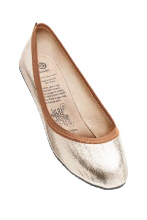 Ladies 1 Pair Rollasole Rosie Gold After Party Shoes to Keep in Your Handbag