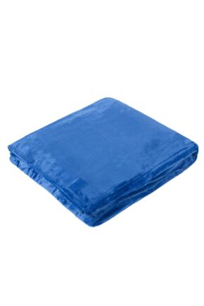 SOCKSHOP Heat Holders Snuggle Up Thermal Blanket In Royal Blue