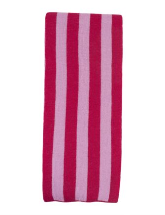 Ladies Great and British Knitwear 100% Merino Wool Striped Scarf. Made in Scotland