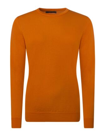 Ladies Great & British Knitwear 100% Merino Round Neck Jumper Orangeade D Large
