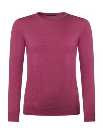 Ladies Great & British Knitwear 100% Merino Round Neck Jumper Sangria C Medium