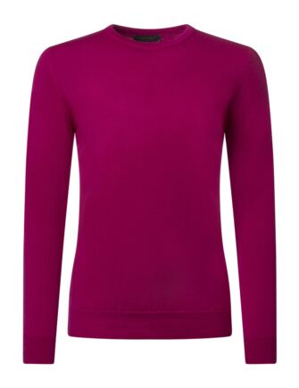Ladies Great & British Knitwear 100% Merino Round Neck Jumper Damask D Large