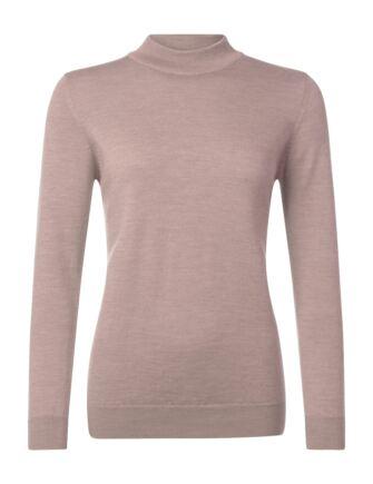 Ladies Great & British Knitwear 100% Merino Mock Turtle Neck Jumper Rambling Rose B Small