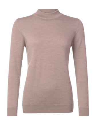 Ladies Great & British Knitwear 100% Merino Mock Turtle Neck Jumper Rambling Rose E Extra Large