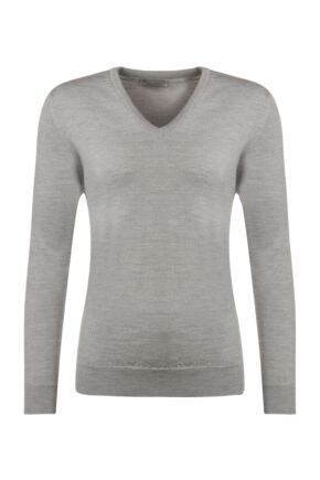 Ladies Great & British Knitwear 100% Merino V Neck Jumper