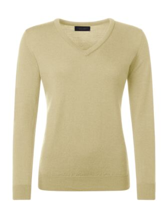 Ladies Great & British Knitwear 100% Merino V Neck Jumper Solstice B Small