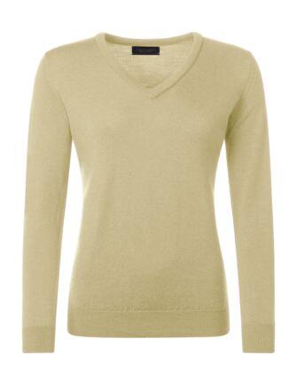 Ladies Great & British Knitwear 100% Merino V Neck Jumper Solstice D Large