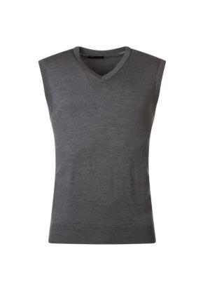 Mens Great & British Knitwear 100% Merino Plain V Neck Slipover Metallic D Large