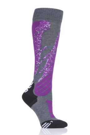 Ladies 1 Pair UYN Melange All Mountain Ski Socks