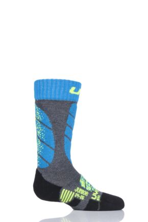 Boys and Girls 1 Pair UYN Junior Ski Socks Grey 31-34