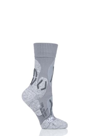 Ladies 1 Pair UYN Cool Merino Trekking Socks Light Grey 39-40