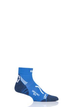 Mens 1 Pair UYN Run Super Fast Socks Blue 39-41
