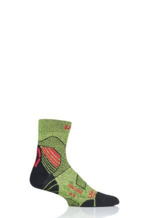 Mens 1 Pair UYN Run Trail Challenge Socks Yellow 35-38